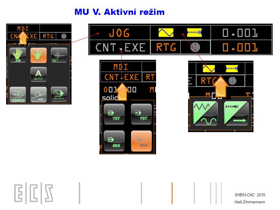 SHBM-CNC 2010 Aleš Zimmermann MU VI. Aktivní režim