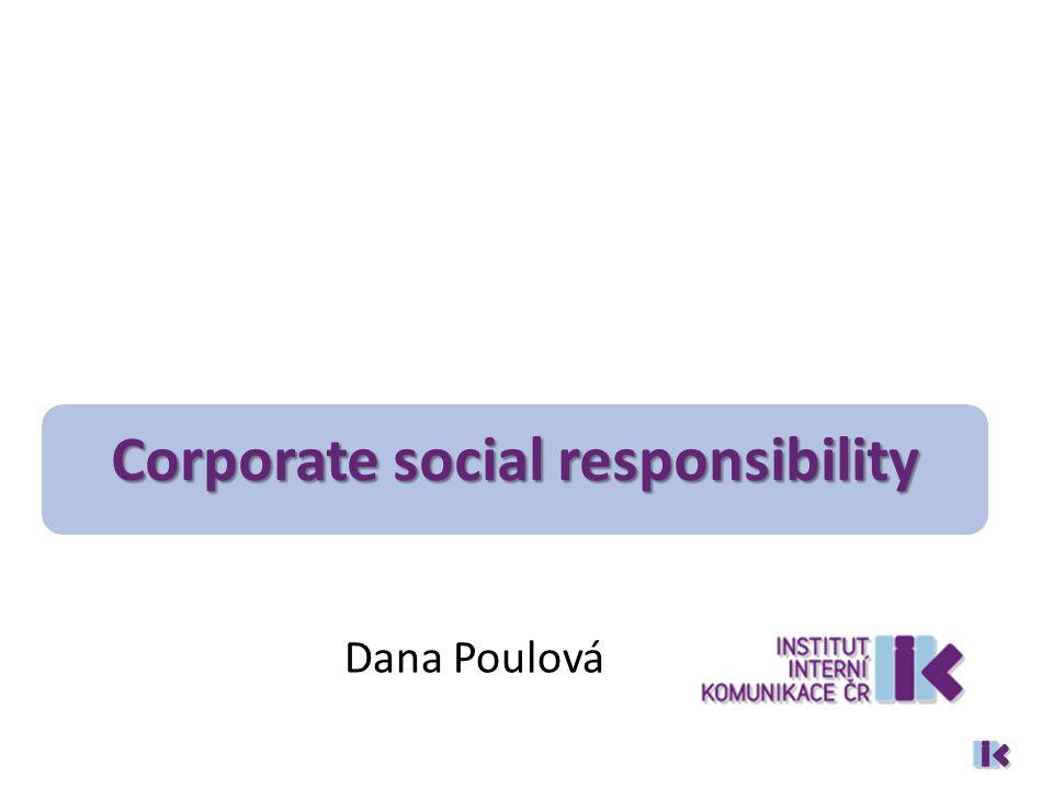 Dana Poulová Corporate social responsibility