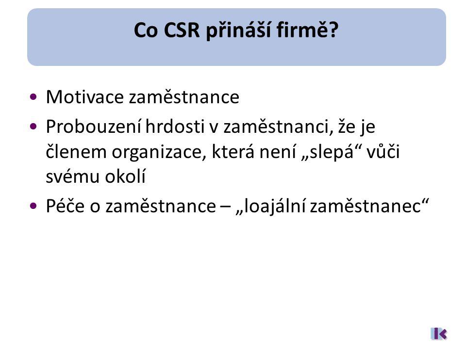 Co CSR přináší firmě.