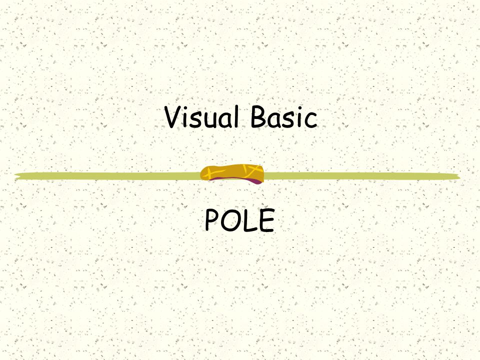 Visual Basic POLE