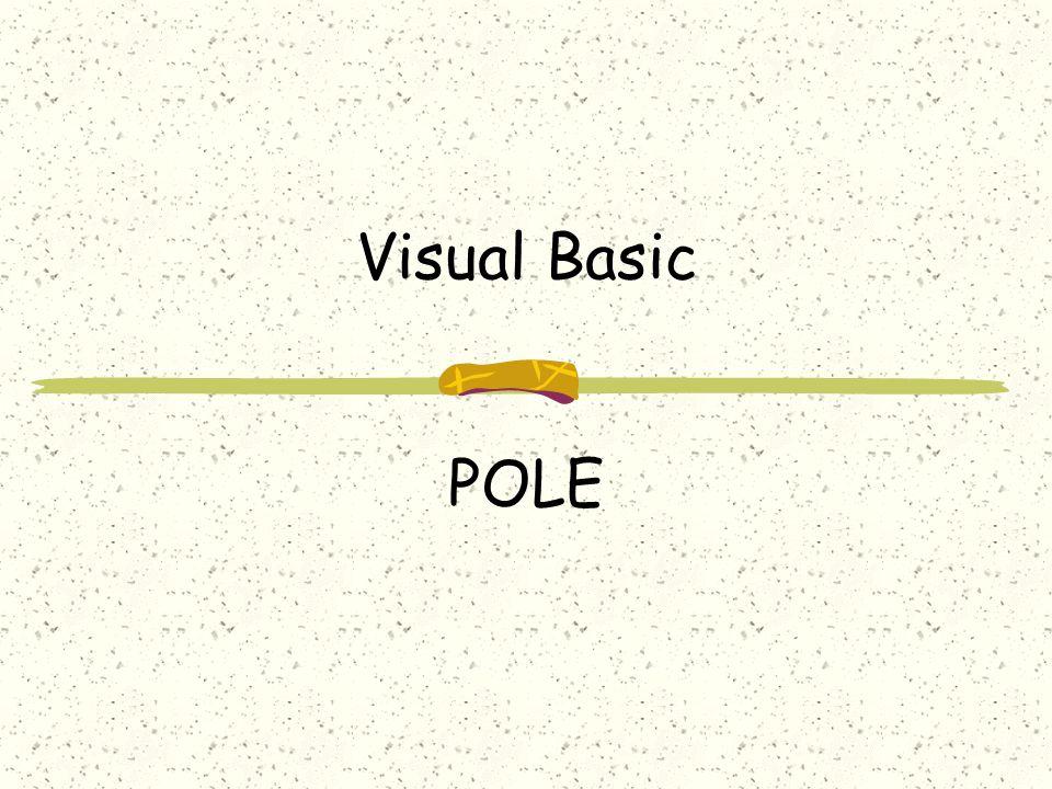 2 POLE Pole - je řada prvků označených indexem Například: řada čísel, které spolu nějak souvisejí řada známek jednoho studenta řada jmen studentů