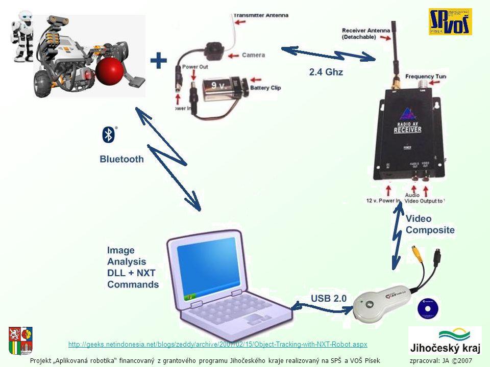 """Projekt """"Aplikovaná robotika"""" financovaný z grantového programu Jihočeského kraje realizovaný na SPŠ a VOŠ Písek zpracoval: JA ©2007 http://geeks.neti"""
