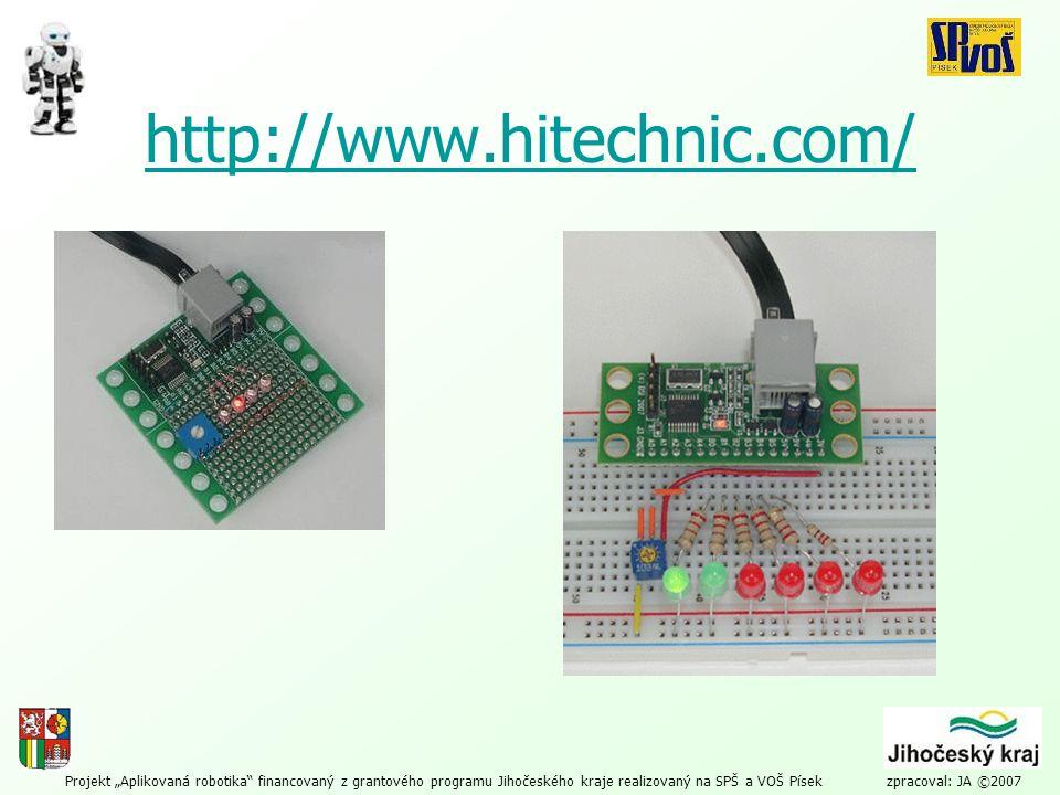 """Projekt """"Aplikovaná robotika financovaný z grantového programu Jihočeského kraje realizovaný na SPŠ a VOŠ Písek zpracoval: JA ©2007 Programovací jazyky: NXT-G code –http://mindstorms.lego.com/http://mindstorms.lego.com/ NXC (and NBC) –http://bricxcc.sourceforge.net/nbc/http://bricxcc.sourceforge.net/nbc/ MS Robotics Studio –http://msdn.microsoft.com/robotics/http://msdn.microsoft.com/robotics/ Robot C –http://www.robotc.net/http://www.robotc.net/ –http://www.robotc.net/content/lego_down/lego_down.htmlhttp://www.robotc.net/content/lego_down/lego_down.html pbLua –http://www.hempeldesigngroup.com/lego/pbLua/index.htmlhttp://www.hempeldesigngroup.com/lego/pbLua/index.html leJOS NXJ –http://lejos.sourceforge.net/http://lejos.sourceforge.net/"""