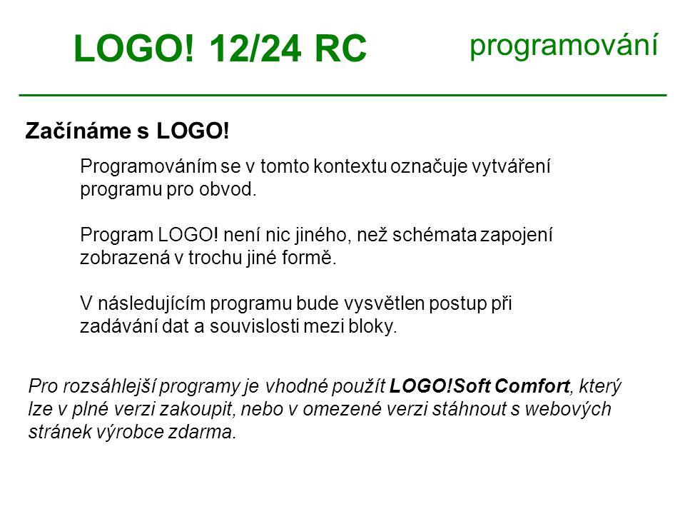 LOGO.12/24 RC programování OK >Edit Prg Edit Name AQ Memory.