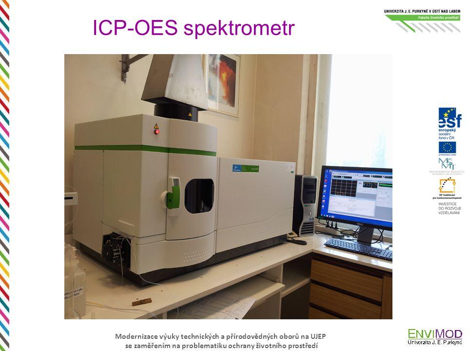 Modernizace výuky technických a přírodovědných oborů na UJEP se zaměřením na problematiku ochrany životního prostředí ICP-OES spektrometr