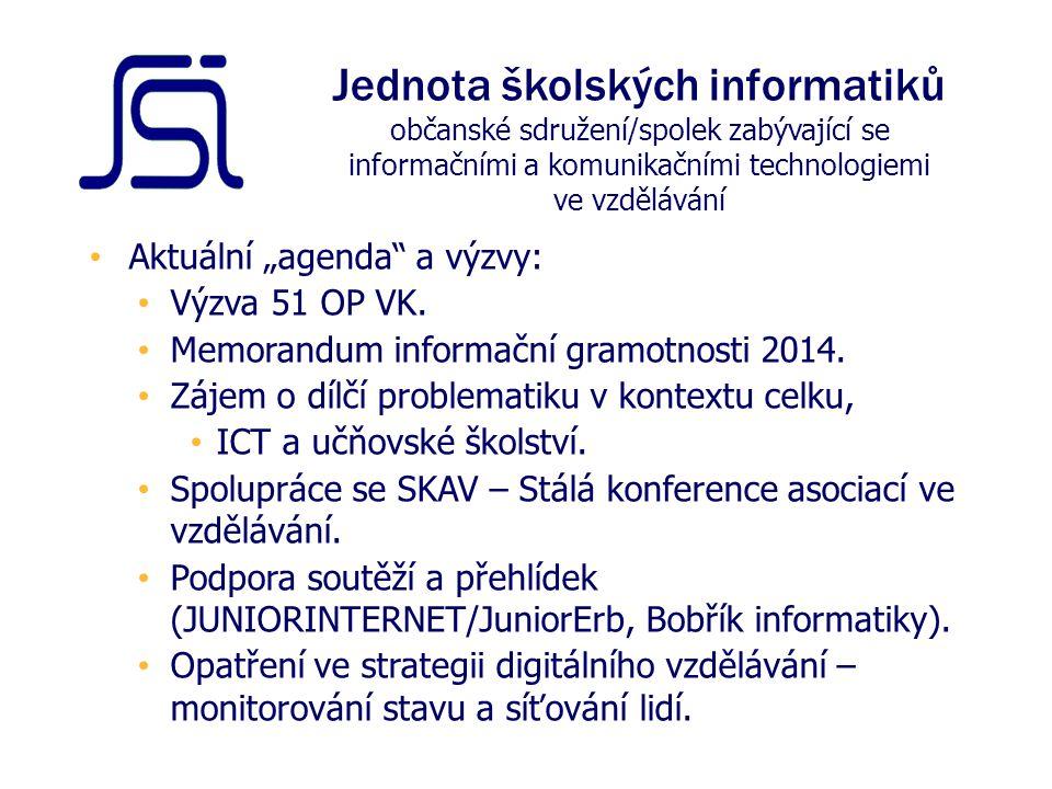 """Aktuální """"agenda a výzvy: Výzva 51 OP VK.Memorandum informační gramotnosti 2014."""