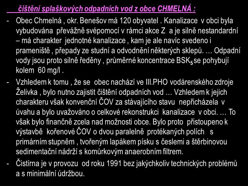 čištění splaškových odpadních vod z obce CHMELNÁ : -Obec Chmelná, okr.