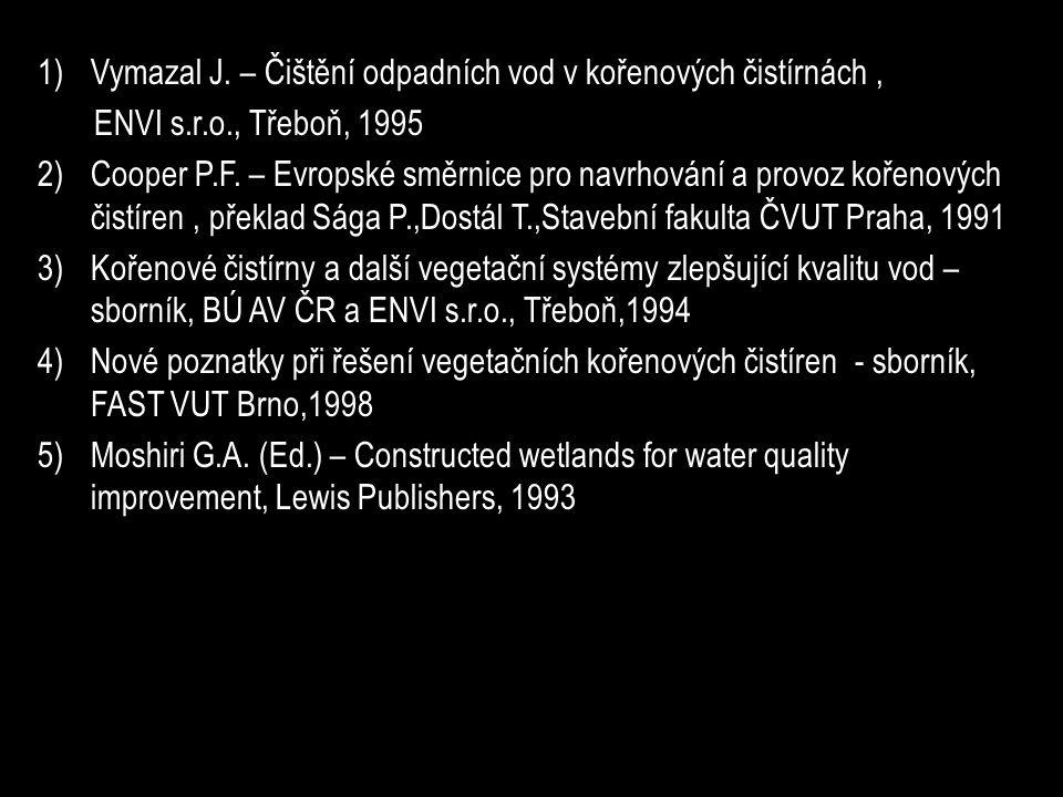 1)Vymazal J.