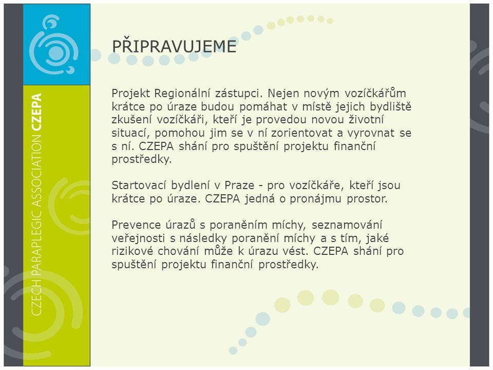 PŘIPRAVUJEME Projekt Regionální zástupci.