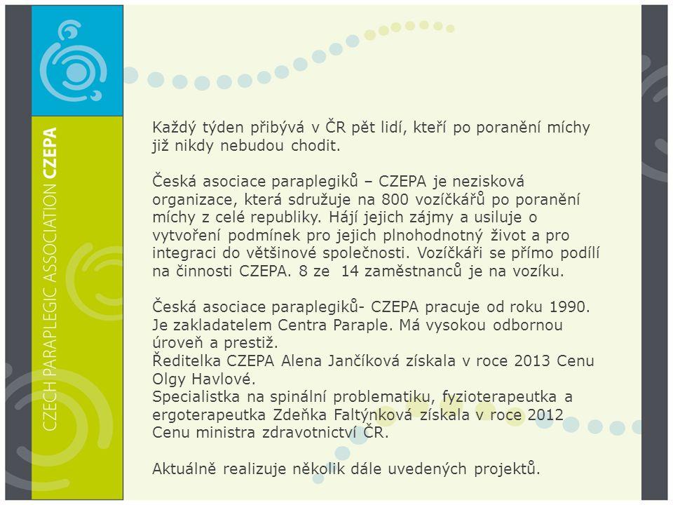 Každý týden přibývá v ČR pět lidí, kteří po poranění míchy již nikdy nebudou chodit.