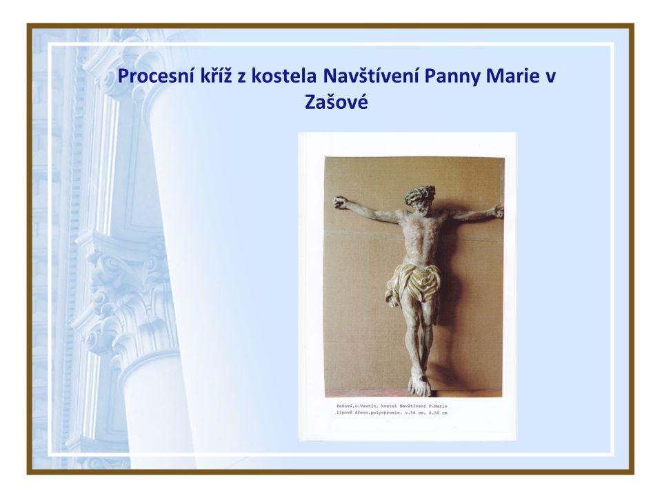 Procesní kříž z kostela Navštívení Panny Marie v Zašové