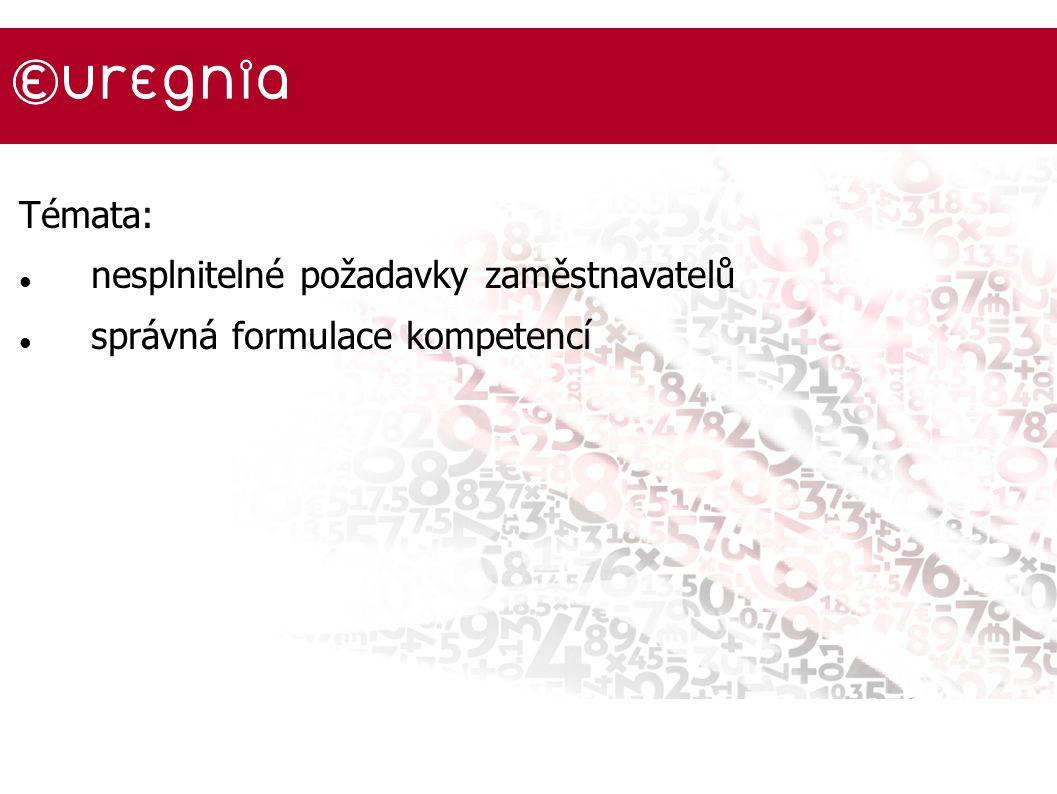 Témata: nesplnitelné požadavky zaměstnavatelů správná formulace kompetencí