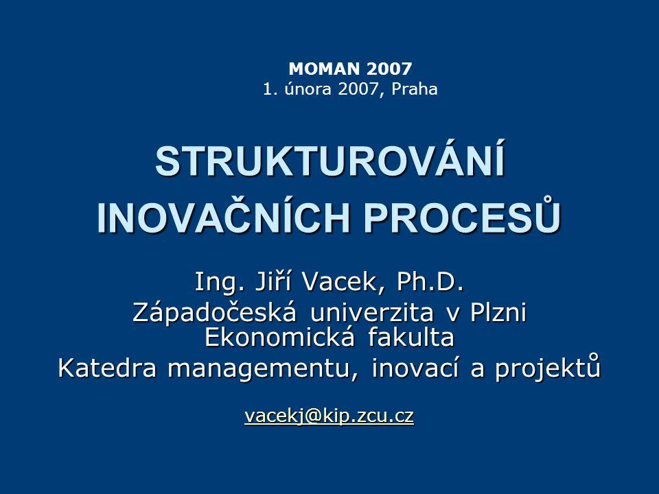 STRUKTUROVÁNÍ INOVAČNÍCH PROCESŮ Ing.Jiří Vacek, Ph.D.