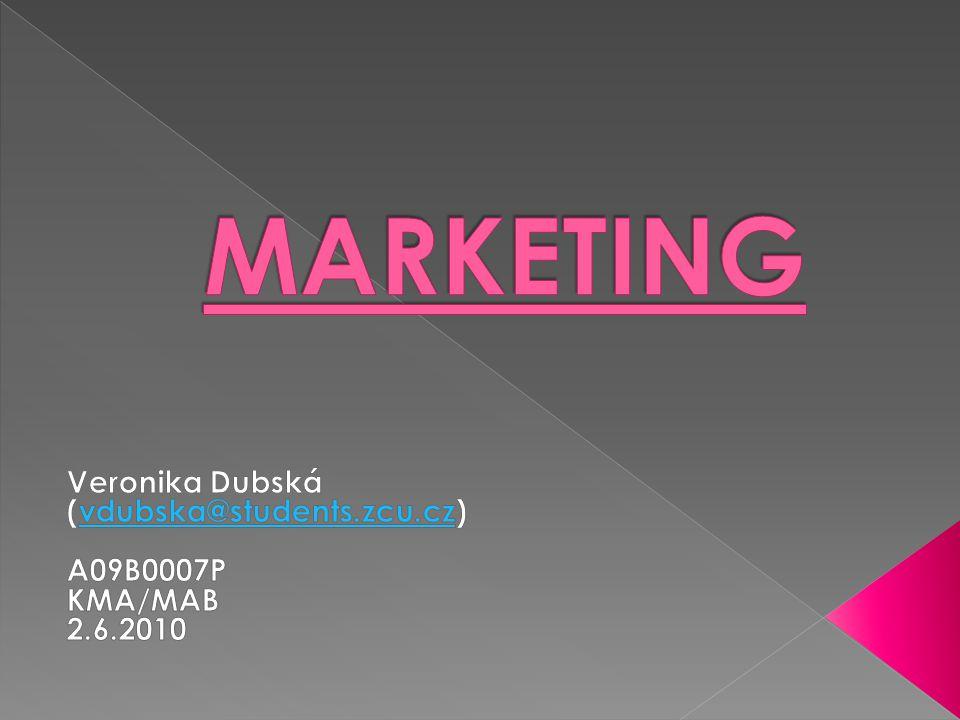  Marketing je proces řízení.