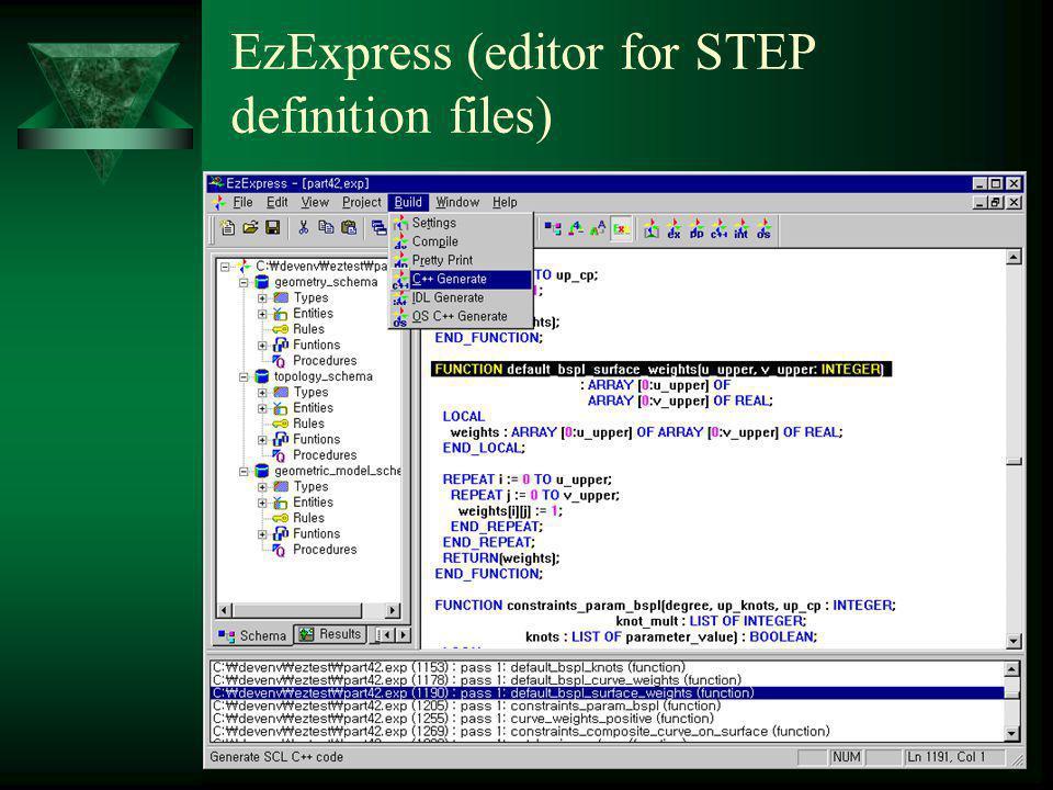 EXPRESS/STEP tools  ST-Developer ( aktuální verze 9.0) –software firmy STEP Tools, Inc.