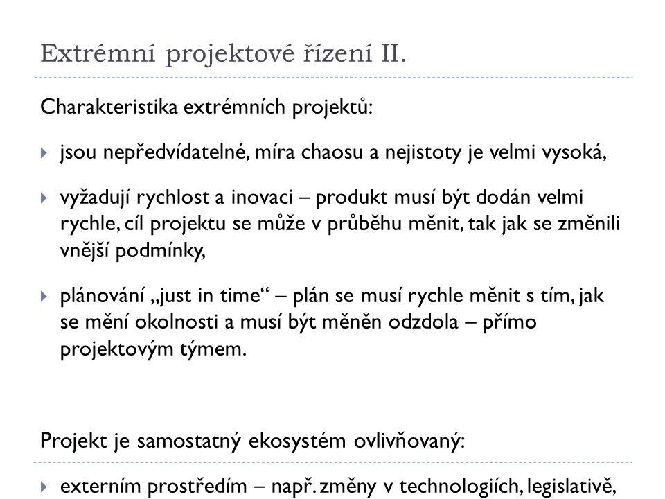 Extrémní projektové řízení II.