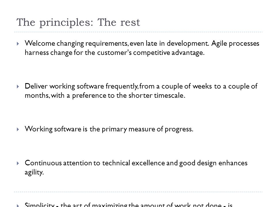 The benefits of going agile 6.10.20127 Strong product and business needs orientation Changes are welcome due to iterative approach Gaining experience is very fast Common sense Fast delivery Simplicity