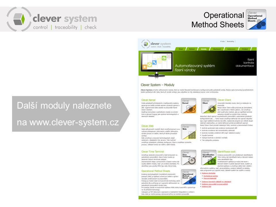 Další moduly naleznete na www.clever-system.cz