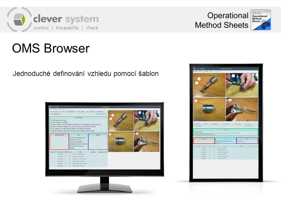 OMS Browser Jednoduché definování vzhledu pomocí šablon
