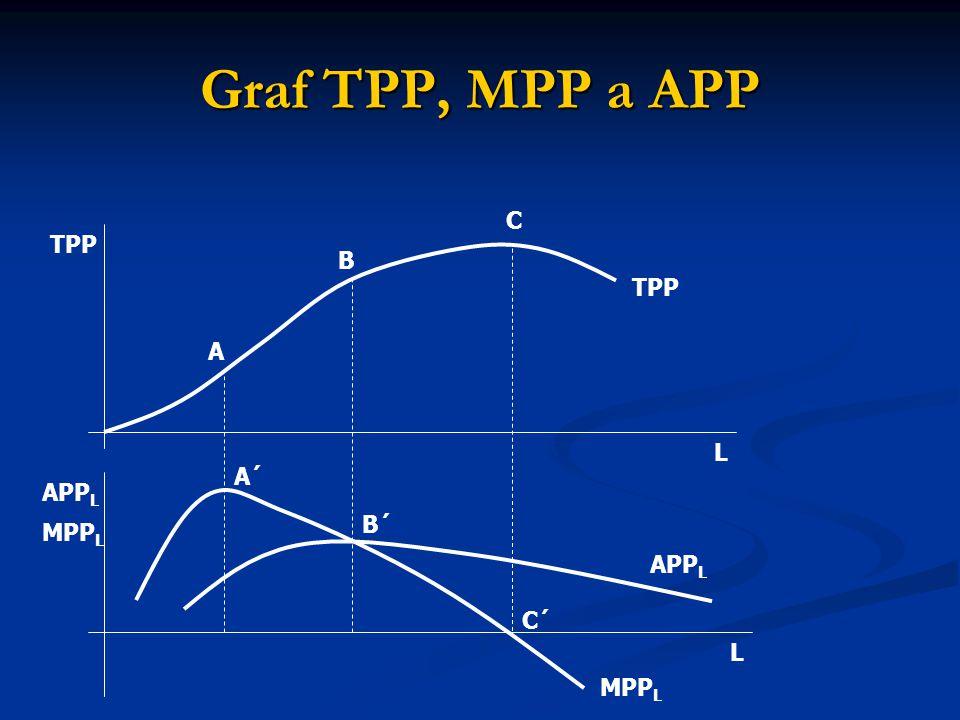 Graf TPP, MPP a APP TPP A B C L L MPP L APP L A´ B´ C´ APP L MPP L