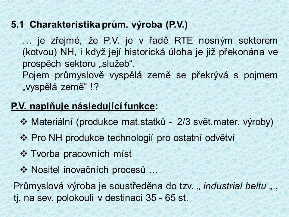 5.1 Charakteristika prům.výroba (P.V.) … je zřejmé, že P.V.