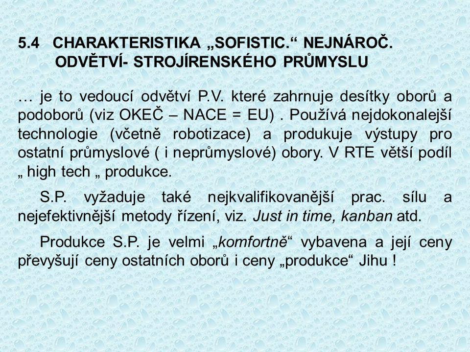 """5.4 CHARAKTERISTIKA """"SOFISTIC. NEJNÁROČ."""