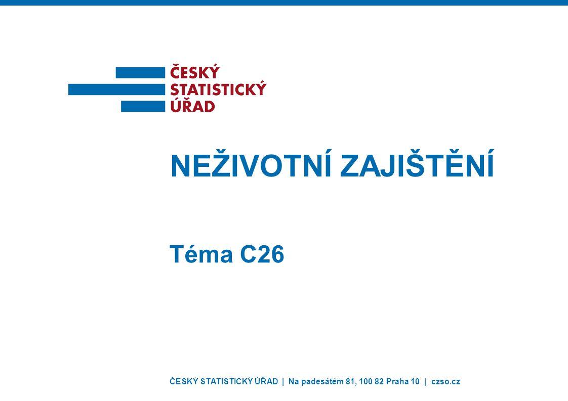 ČESKÝ STATISTICKÝ ÚŘAD | Na padesátém 81, 100 82 Praha 10 | czso.cz NEŽIVOTNÍ ZAJIŠTĚNÍ Téma C26