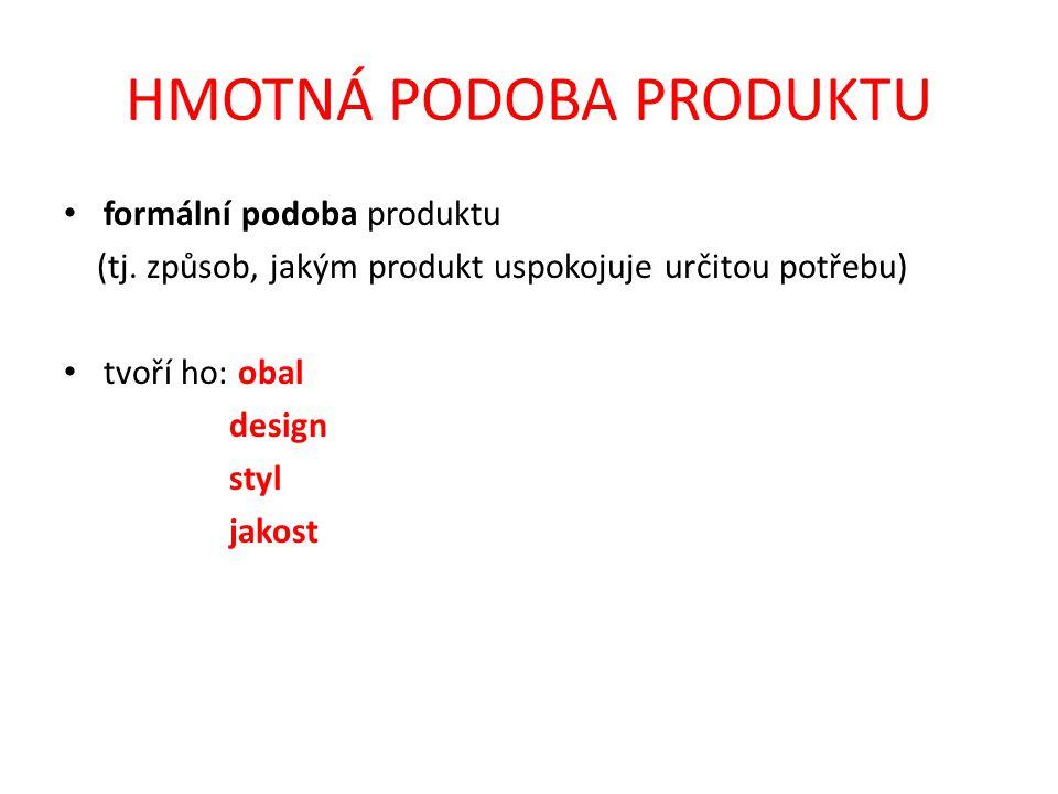 HMOTNÁ PODOBA PRODUKTU formální podoba produktu (tj.