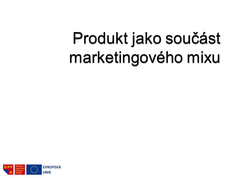 Produkt je základním prvkem marketingového mixu.
