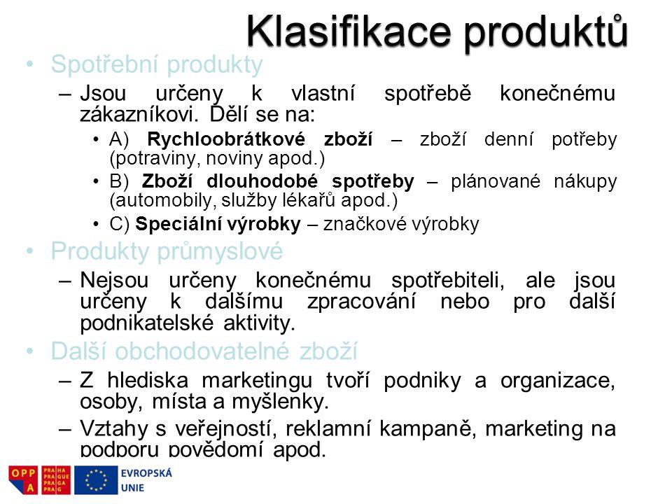 Sjednocuje určité zásady a hodnoty výrobce (např.