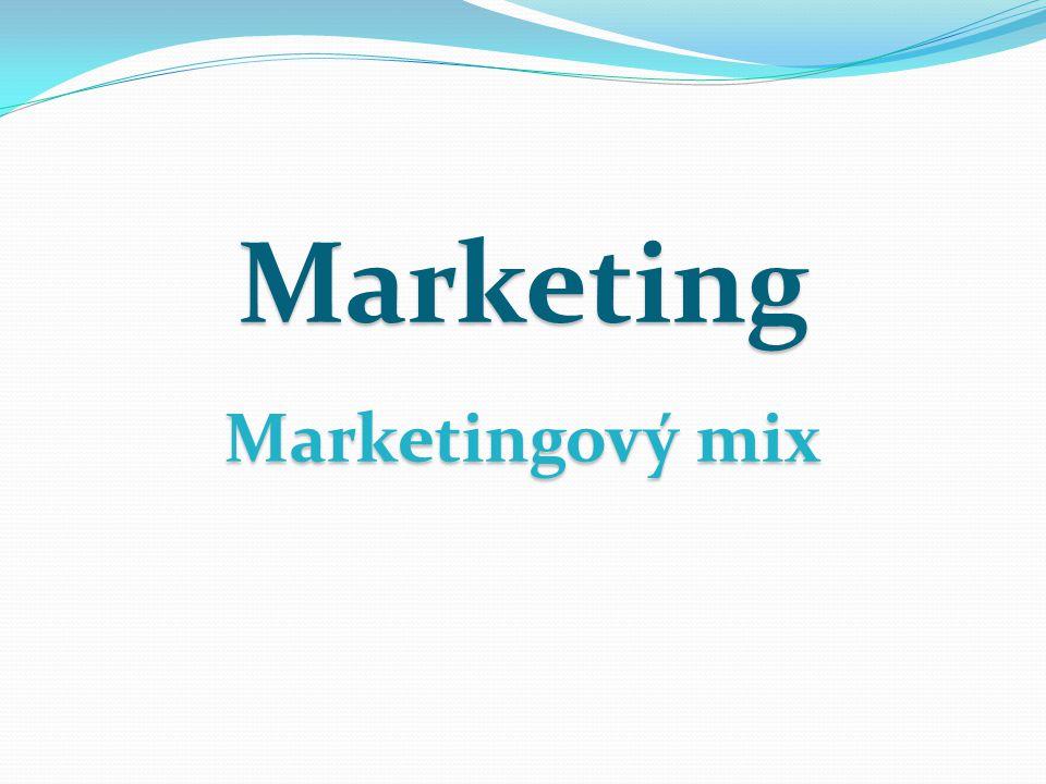 Marketingový mix je souborem nástrojů, která firma používá k ovlivňování poptávky po svém výrobku nebo službě.