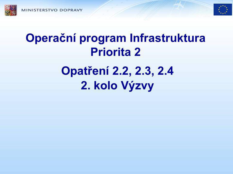 opatření 2.2 podpora kombinované dopravy cíl (monitorovací ukazatele): vyšší podíl KD, zlepš.