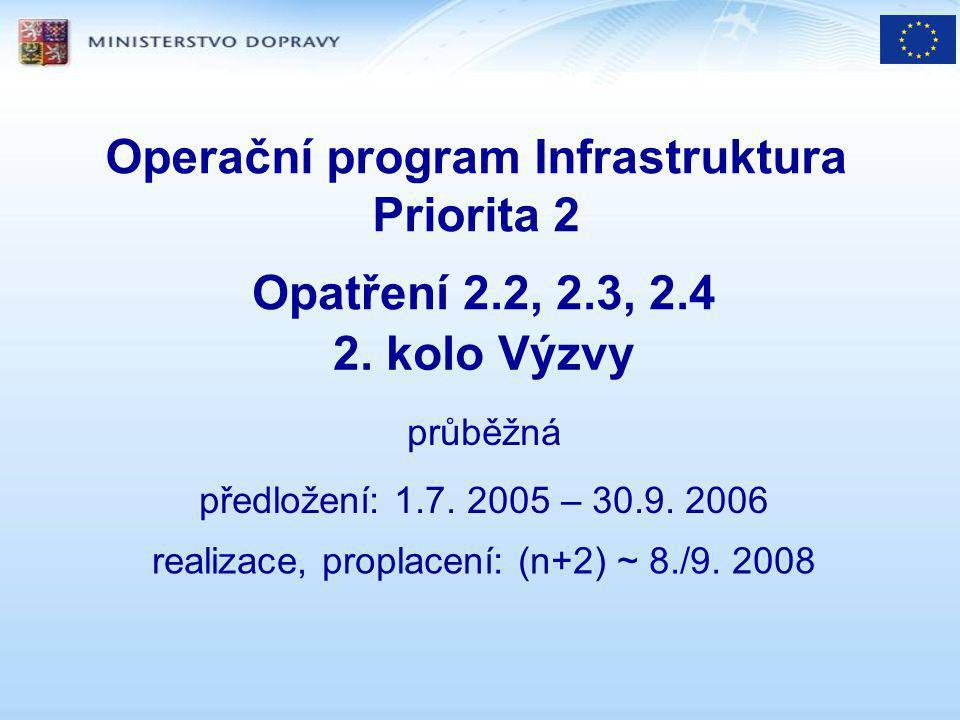 Programová dokumentace Operační program Infrastruktura Programový Dodatek Pokyny pro žadatele Povinné přílohy žádosti www.mdcr.cz www.opi-infrastruktura.cz