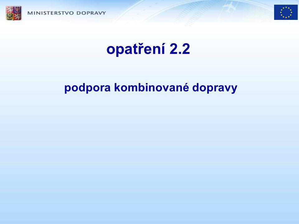 opatření 2.2 podpora kombinované dopravy