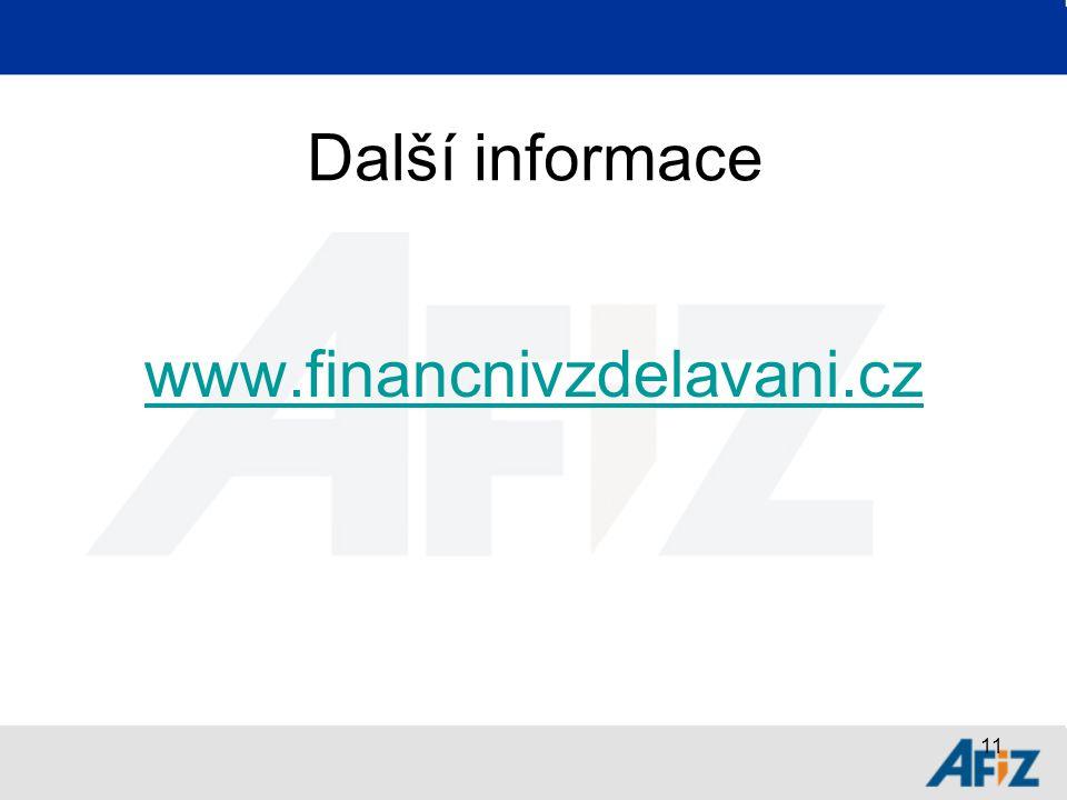 11 Další informace www.financnivzdelavani.cz
