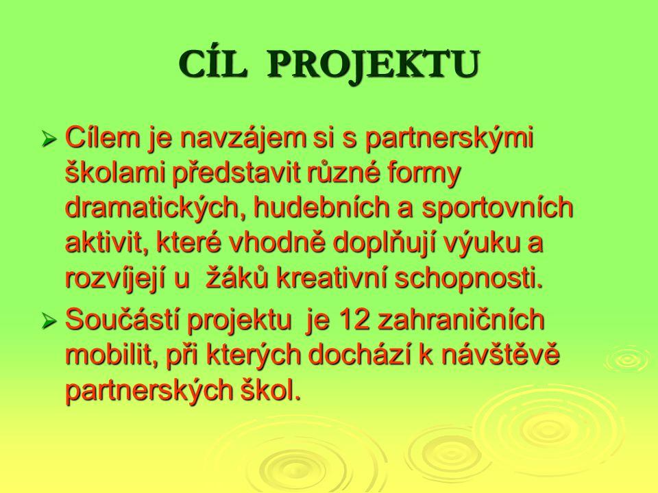 PARTNERSKÉ ŠKOLY  ZŠ a MŠ Kladno, Vodárenská 2115