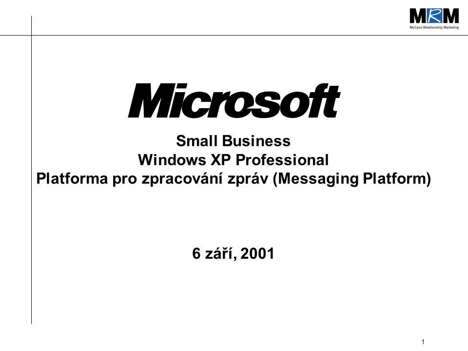 1 Small Business Windows XP Professional Platforma pro zpracování zpráv (Messaging Platform) 6 září, 2001