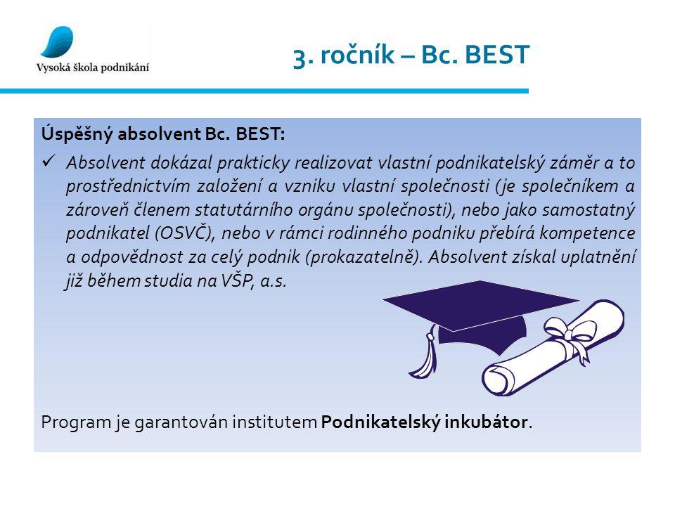 3. ročník – Bc. BEST Úspěšný absolvent Bc.
