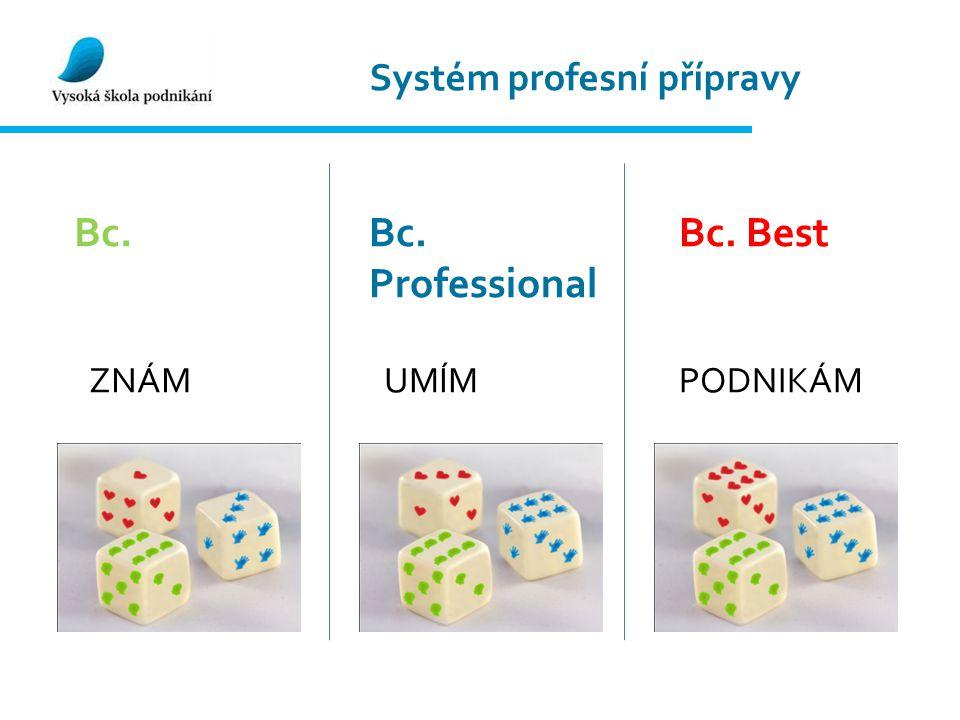 Systém profesní přípravy Bc.Bc. Professional Bc. Best ZNÁMUMÍMPODNIKÁM