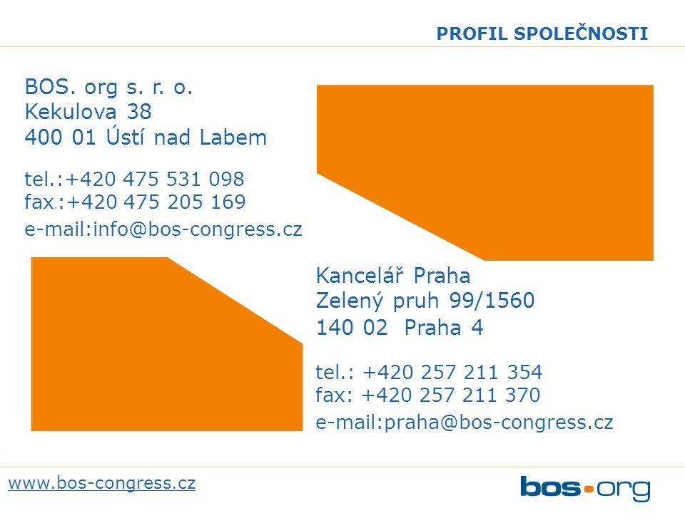 BOS. org s. r. o. Kekulova 38 400 01 Ústí nad Labem tel.:+420 475 531 098 fax.