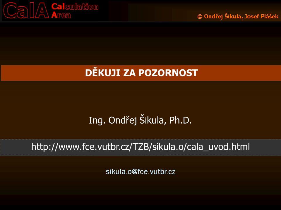 sikula.o@fce.vutbr.cz Ing. Ondřej Šikula, Ph.D. DĚKUJI ZA POZORNOST http://www.fce.vutbr.cz/TZB/sikula.o/cala_uvod.html