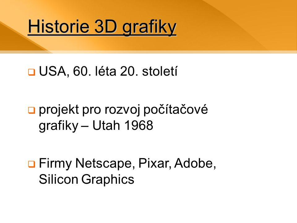 Historie 3D grafiky  USA, 60.léta 20.