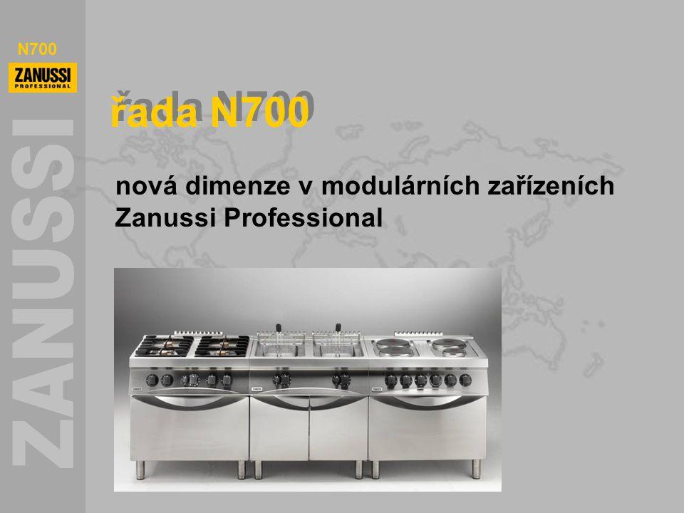 N700 řada N700 nová dimenze v modulárních zařízeních Zanussi Professional