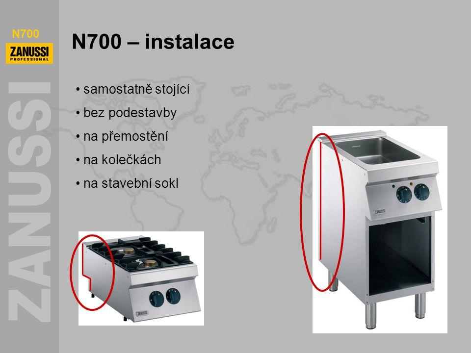 N700 N700 – instalace samostatně stojící bez podestavby na přemostění na kolečkách na stavební sokl