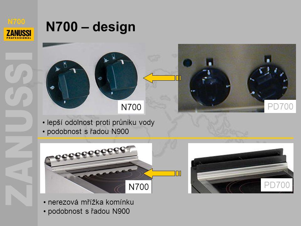N700 N700 – design lepší odolnost proti průniku vody podobnost s řadou N900 N700 PD700 N700 PD700 nerezová mřížka komínku podobnost s řadou N900