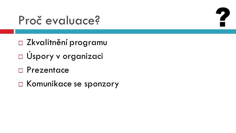 Plán (design) evaluace  Kvantitativní  Do jaké míry bylo dosaženo očekávaných výstupů programu.