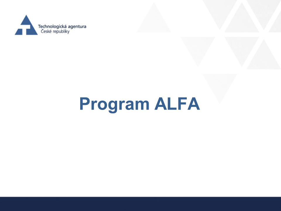 Program ALFA