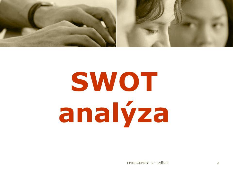 MANAGEMENT 2 - cvičení2 SWOT analýza