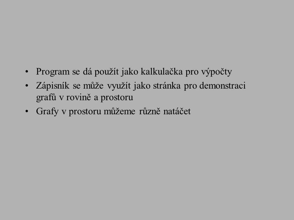 Zdroje informací o Maplu http://www.maplesoft.com - domovská stránka programu Maple http://www.fi.muni.cz/~hrebicek/maple - Český klub uživatelů programu Maple s odkazy Odkazy na stránky uživatelů: http://www.fit.vutbr.cz/~tisnovpa/vyuka/PP1/maple/kap01.