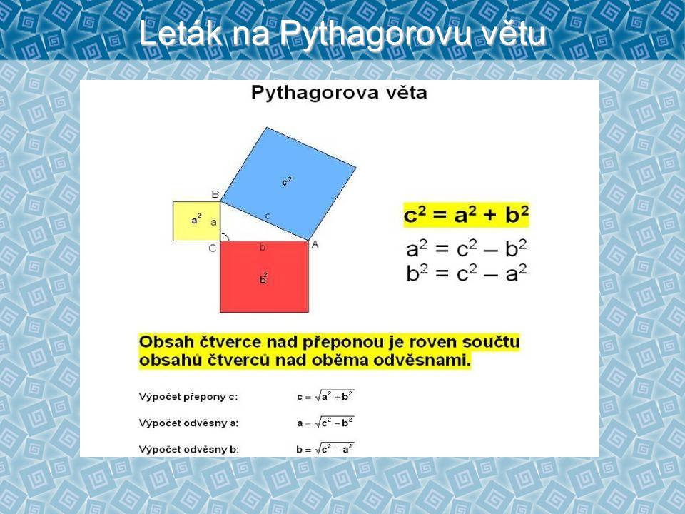 Leták na Pythagorovu větu